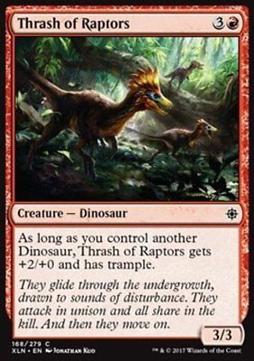 MtG-4x-Thrash-of-Raptors-Ixalan-Common